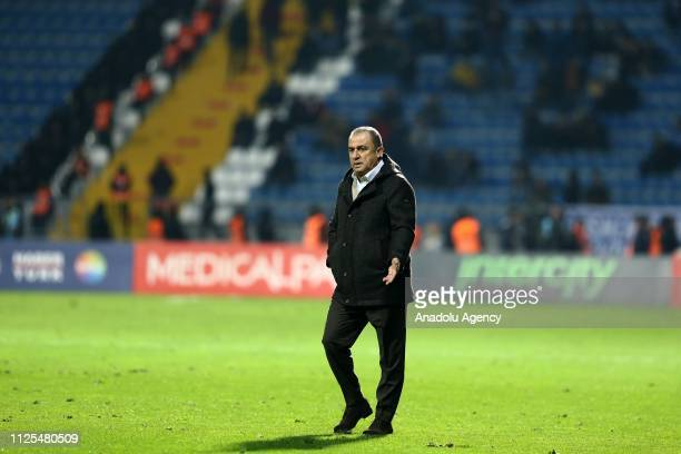 Head coach of Galatasaray Fatih Terim looks on during the Turkish Super Lig soccer match between Kasimpasa and Galatasaray at Recep Tayyip Erdogan...