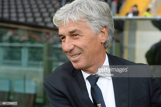 Head coach of Genoa Gian Piero Gasperini looks on during the Serie A match between Udinese Calcio and Genoa CFC at Stadio Friuli on October 4 2015 in...