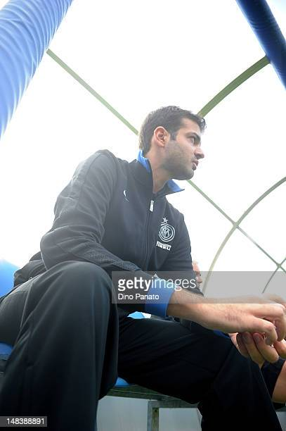 Head coach of Internazionale Milano Andrea Stramaccioni looks on during a preseason friendly match between FC Internazionale Milano and Koper on July...