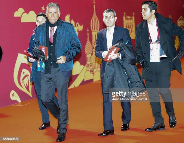 head coach of Iran Carlos Queiroz arrives prior to the Final Draw for the 2018 FIFA World Cup Russia at the State Kremlin Palace on December 1 2017...