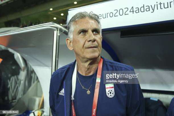 Head coach of Iran national football team Carlos Queiroz is seen during the international friendly soccer match between Turkey and Iran at the...
