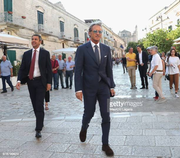 Head coach of Italy Roberto Mancini and Alessandro Costacurta during FIGC 120 Years Exhibition on June 19 2018 in Matera Italy