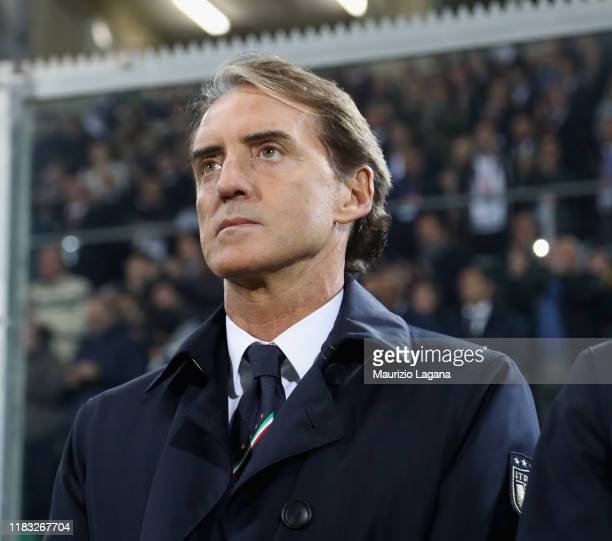 Head coach of Italy Roberto Mancini during the UEFA Euro 2020 Qualifier between Italy and Armenia on November 18 2019 in Palermo Italy