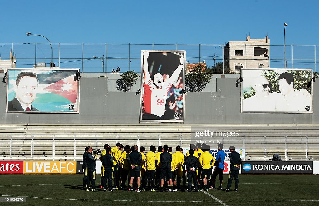 Head Coach of Japan Alberto Zaccheroni supervises during the training session ahead of the World Cup qualifier against Jordan at King Abdullah International Stadium on March 25, 2013 in Amman, Jordan.