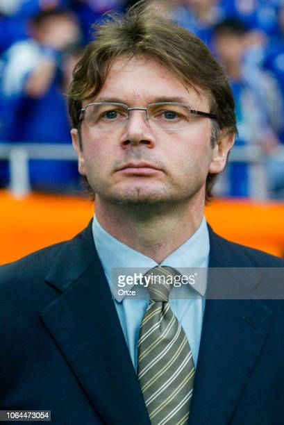 Head coach of Japan Philippe Troussier during the World Cup match between Japan and Belgium in Saitama Stadium in Saitama Japan on June 4th 2002