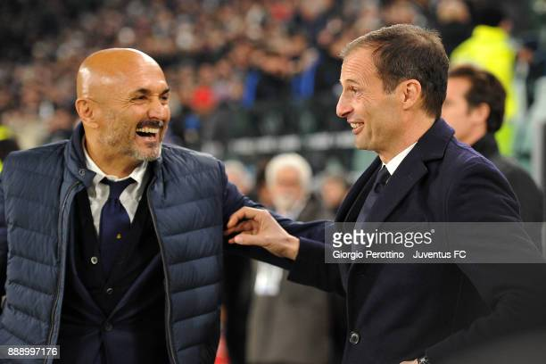 head coach of Juventus Massimiliano Allegri and head coach of FC Internazionale Luciano Spalletti before the Serie A match between Juventus and FC...