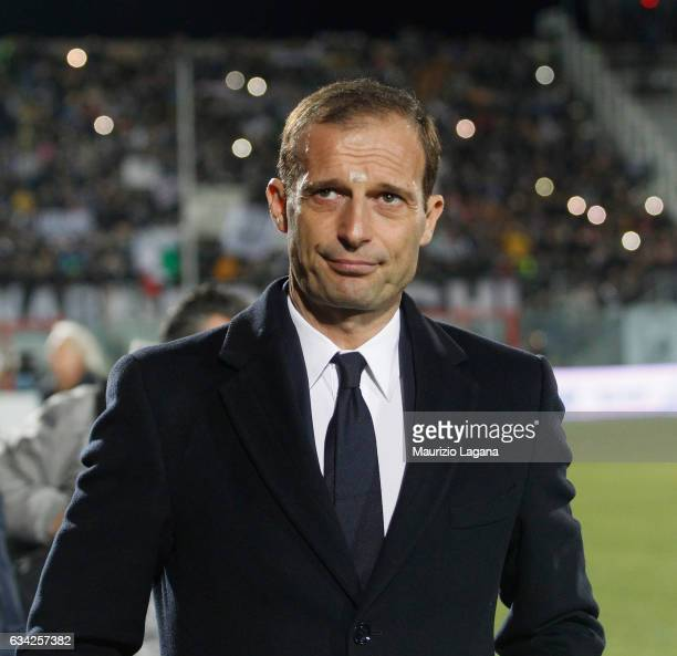 Head coach of Juventus Massimiliano Allegri during the Serie A match between FC Crotone and Juventus FC at Stadio Comunale Ezio Scida on February 8...