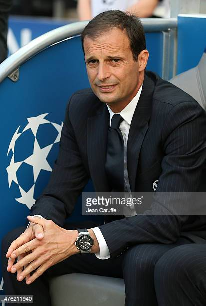 Head coach of Juventus Turin Massimiliano Allegri looks on before the UEFA Champions League Final between Juventus Turin and FC Barcelona at...