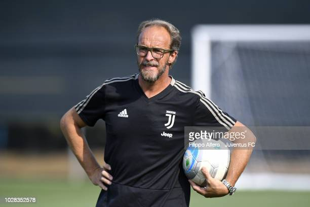 Head coach of Juventus Under 23 Mauro Zironelli during the Friendly Match between Juventus U23 and Busto 81 at Juventus Center Vinovo on August 30...