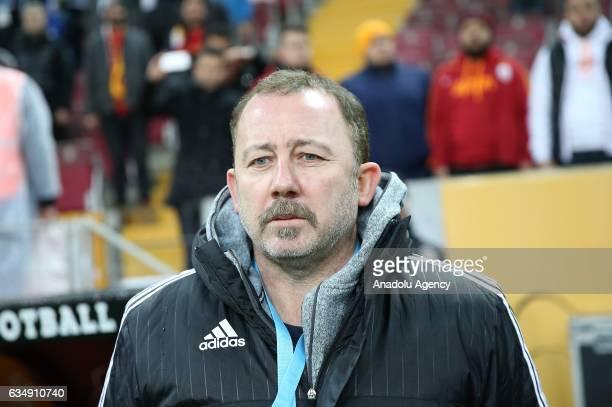 Head coach of Kayserispor Sergen Yalcin is seen during the Turkish Spor Toto Super Lig football match between Galatasaray and Kayserispor at TT Arena...