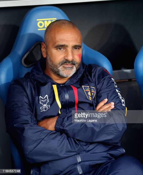 Head coach of Lecce Fabio Liverani during the Serie A match between US Lecce and Cagliari Calcio at Stadio Via del Mare on November 25 2019 in Lecce...