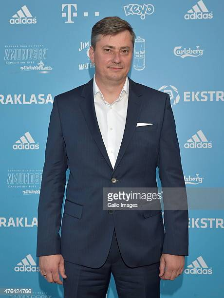 Head Coach of Lech Poznan Maciej Skorza attends the gala for the Ekstraklasa Awards on June 8 2015 in Warsaw Poland The annual awards honors the best...