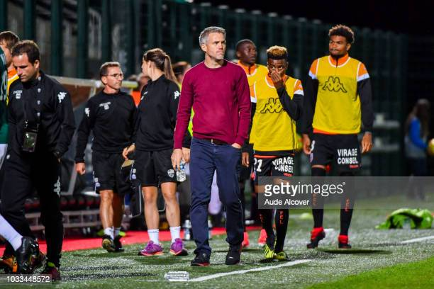 Head coach of Lorient Mickael Landreau during the French Ligue 2 match between Red star and Lorient at Stade Pierre Brisson on September 14 2018 in...