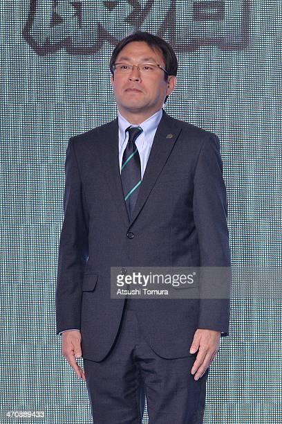Head Coach of Matsumoto Yamaga FC Yasuharu Sorimachi attends the J.League Kick-off Conference 2014 on February 21, 2014 in Tokyo, Japan.