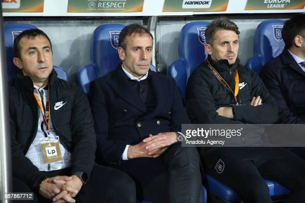 Head coach of Medipol Basaksehir Abdullah Avci is seen during the UEFA Europa League Group C soccer match between Medipol Basaksehir and Braga at the...