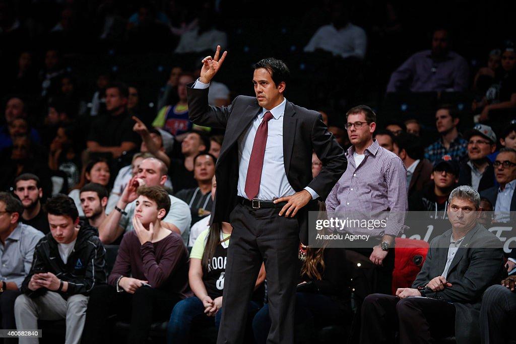 NBA basketball game - Brooklyn Nets vs Miami Heat : News Photo