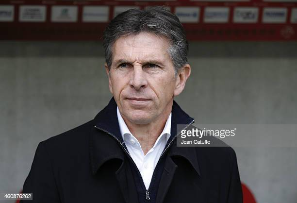 Head coach of Nice Claude Puel reacts during the French Ligue 1 match between OGC Nice and AS SaintEtienne ASSE at the Allianz Riviera stadium on...