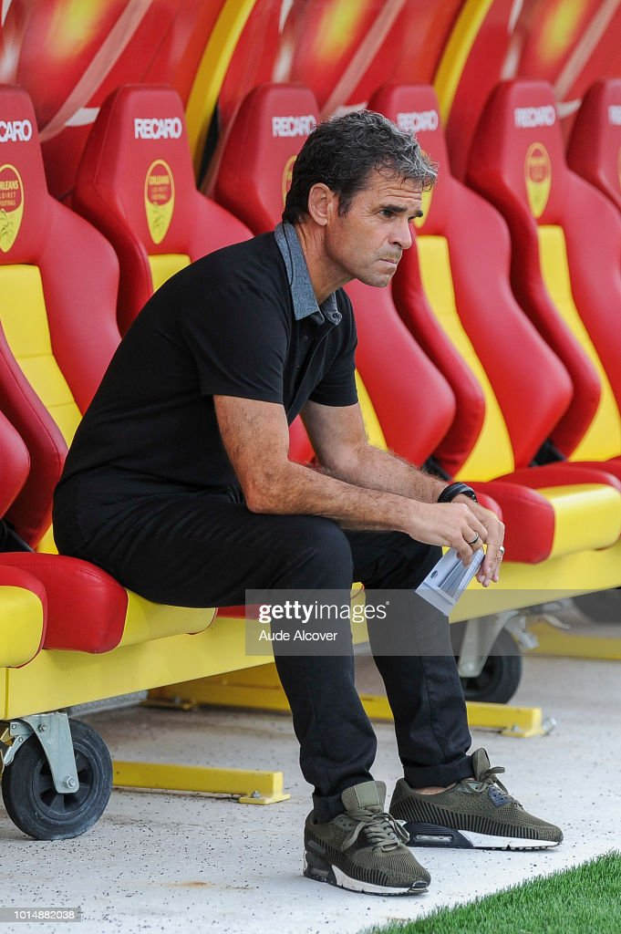 Head coach of Orleans Didier Olle Nicolle during the French Ligue 2 match between Orleans and Auxerre on August 10, 2018 in Orleans, France.