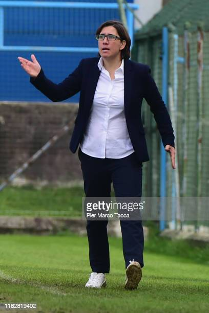 Head Coach of Orobiche Women Marianna Marini gestures during the Women Serie A match between FC Internazionale and Orobica at Campo Sportivo F...