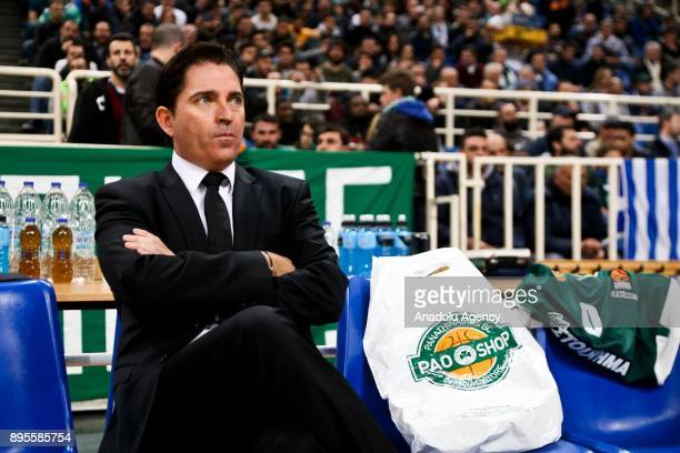 Head Coach of Panathinaikos Superfoods Athens Javi Pasquale is seen during the Turkish Airlines Euroleague basketball match between Panathinaikos...