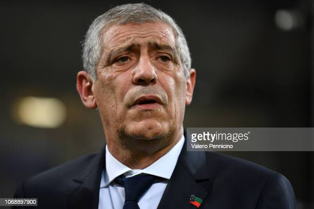 Head Coach of Portugal Fernando Santos looks on during the UEFA Nations League A group three match between Italy and Portugal at Stadio Giuseppe...