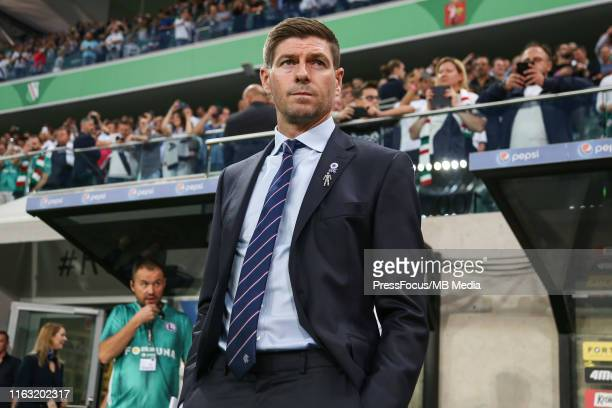 Head coach of Rangers FC Steven Gerrard during the UEFA Europa League Play Off First Leg match between Legia Warsaw and Rangers FC on August 22 2019...