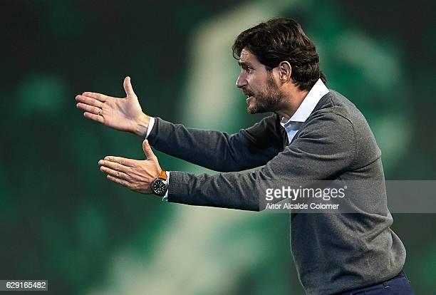 Head Coach of Real Betis Balompie Victor Sanchez del Amo during La Liga match between Real Betis Balompie vs Athletic Club at Benito Villamarin...