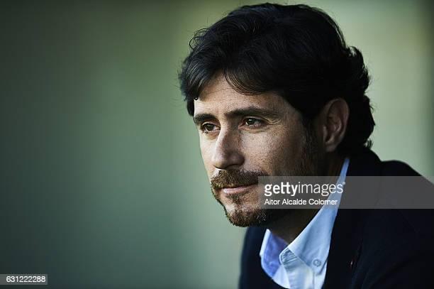 Head Coach of Real Betis Balompie Victor Sanchez del Amo during La Liga match between Real Betis Balompie v CD Leganes at Benito Villamarin Stadium...