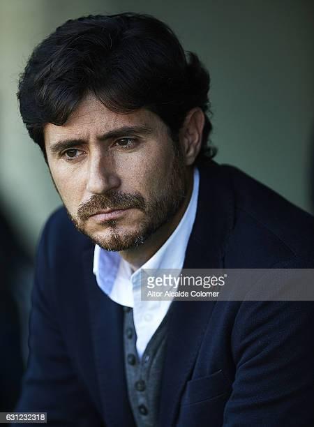 Head Coach of Real Betis Balompie Victor Sanchez del Amo looks on during La Liga match between Real Betis Balompie v CD Leganes at Benito Villamarin...