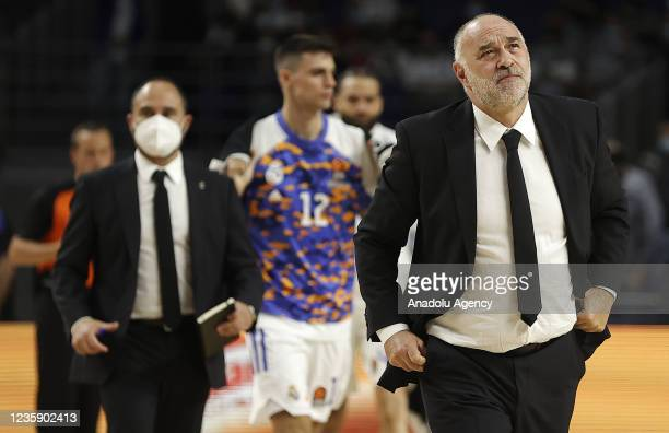 Head coach of Real Madrid Pablo Laso is seen during Turkish Airlines EuroLeague basketball match between Real Madrid and Panathinaikos at Wizink...