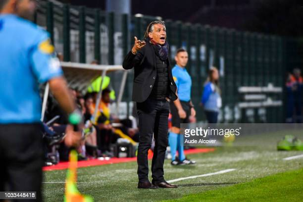 Head coach of Red Star Regis Brouard during the French Ligue 2 match between Red star and Lorient at Stade Pierre Brisson on September 14 2018 in...