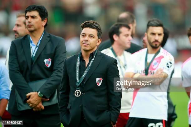 Head Coach of River Plate Marcelo Gallardo looks dejected after losing the final match of Copa CONMEBOL Libertadores 2019 between Flamengo and River...