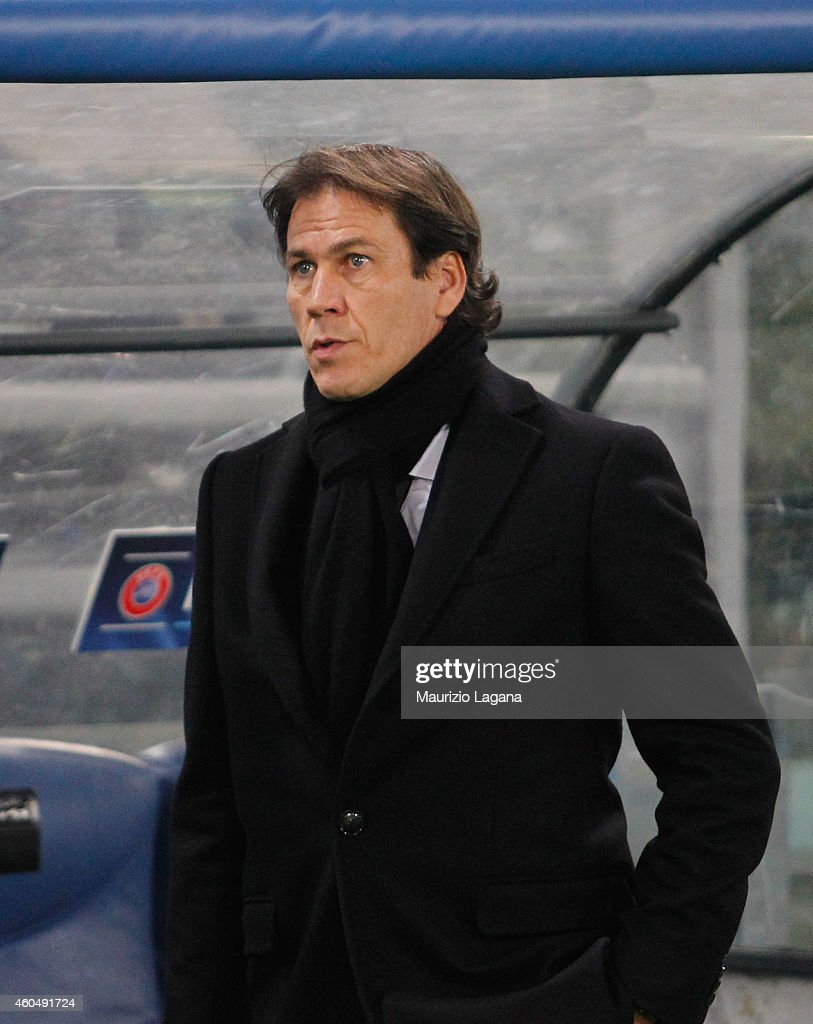 Head coach of Roma Rudi Garcia during the UEFA Champions League Group E match between AS Roma and Manchester City FC on December 10, 2014 in Rome, Italy.