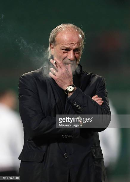 Head coach of Roma Walter Sabatini during the Serie A match between US Citta di Palermo and AS Roma at Stadio Renzo Barbera on January 17 2015 in...