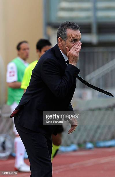 Head coach of Sassuolo Stefano Pioli gestures during the Serie B match between Calcio Padova and US Sassuolo Calcio at Stadio Euganeo on May 1 2010...