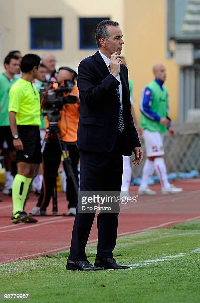 Head coach of Sassuolo Stefano Pioli looks on during the Serie B match between Calcio Padova and US Sassuolo Calcio at Stadio Euganeo on May 1 2010...