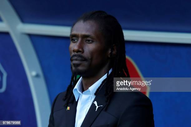Head Coach of Senegal Aliou Cisse is seen during the 2018 FIFA World Cup Russia Group H match between Poland and Senegal at the Spartak Stadiumin...