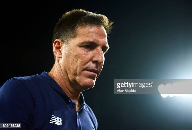 Head Coach of Sevilla FC Eduardo Berizzo looks on during a Pre Season Friendly match between Sevilla FC and AS Roma at Estadio Ramon Sanchez Pizjuan...