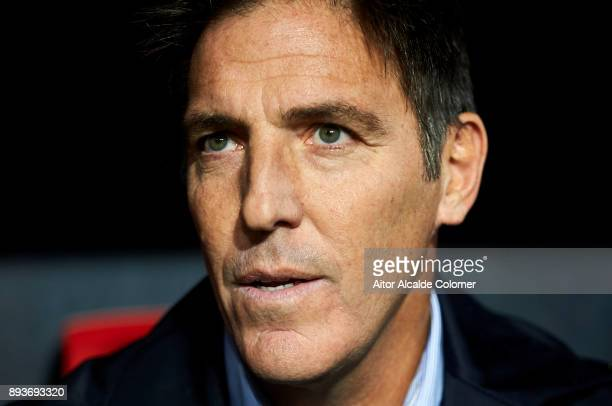 Head Coach of Sevilla FC Eduardo Berizzo looks on prior to the start the La Liga match between Sevilla FC and Levante UD at Estadio Ramon Sanchez...