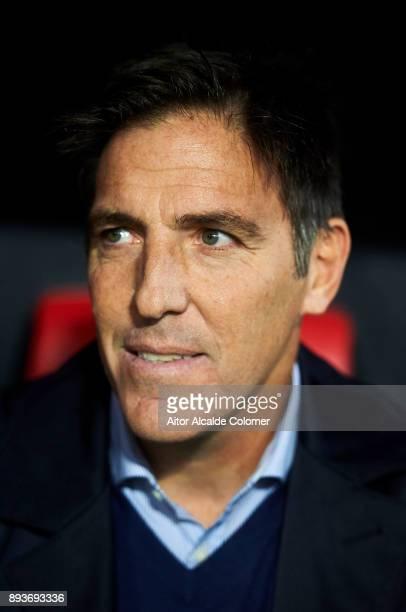 Head Coach of Sevilla FC Eduardo Berizzo looks on prior to the start the La Liga match between Sevilla FC and Levante UD at Estadio Ramon Sanchez...