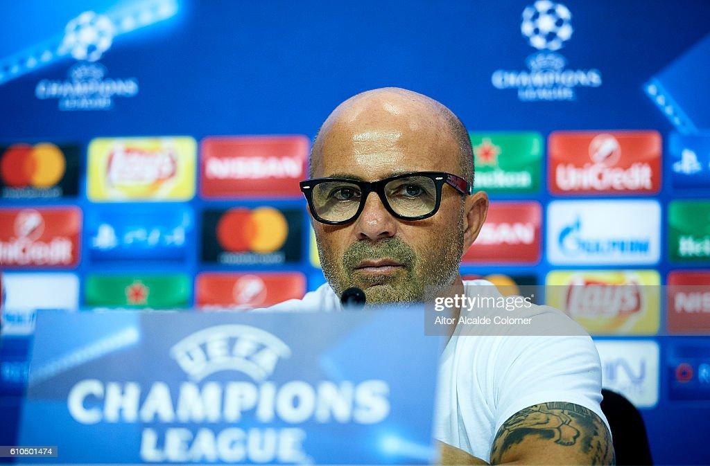Sevilla FC Training Session & Press Conference : News Photo