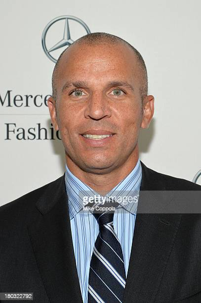 Head coach of the Brooklyn Nets Jason Kidd attends the MercedesBenz Star Lounge during MercedesBenz Fashion Week Spring 2014 on September 11 2013 in...