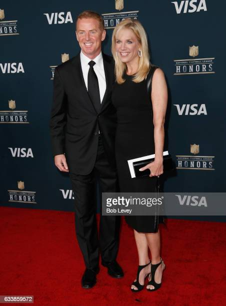 NFL head coach of the Dallas Cowboys Jason Garrett and Brill Garrett attend 6th Annual NFL Honors at Wortham Theater Center on February 4 2017 in...