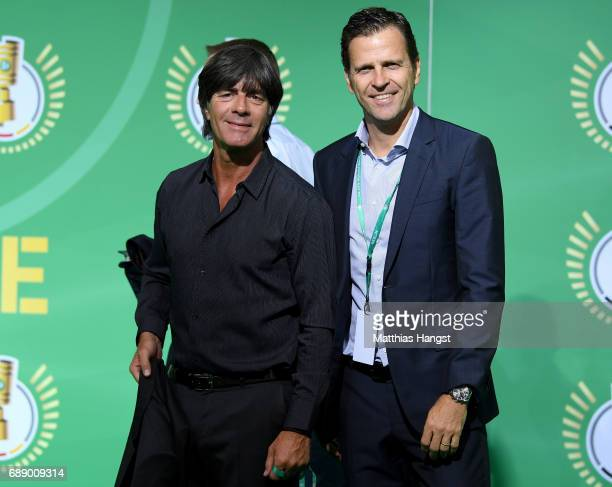 Head coach of the German national team Joachim Loew and team manager of the German national team Oliver Bierhoff arrive for the DFB Cup Final 2017...