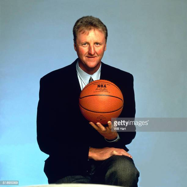 Head Coach of the Indiana Pacers Larry Bird poses for a portrait in 1997 NOTE TO USER User expressly acknowledges and agrees that by downloading...