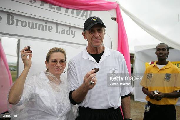 Head Coach of the Miami Heat Pat Riley and his wife Chris attend the 2007 Family Festival on April 15 2007 at Watson Island in Miami Florida NOTE TO...