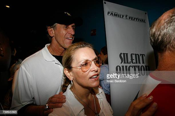 Head Coach of the Miami Heat Pat Riley and his wife Cris attends the 2007 Family Festival on April 15 2007 at Watson Island in Miami Florida NOTE TO...