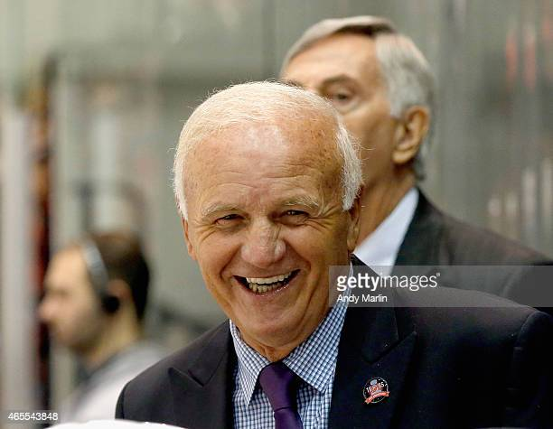 576cdbc98 Head coach of the New Jersey Devils 1995 Stanley Cup Championship Team  Jacques Lemaire looks on