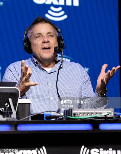 Head coach of the New Orleans Saints Sean Payton speaks onstage during day 2 of SiriusXM at Super Bowl LIV on January 30 2020 in Miami Florida