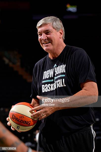 Head coach of the New York Liberty Bill Laimbeer before the game against the Dallas Wings during the WNBA game on May 15 2016 at the Madison Square...